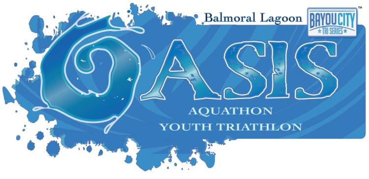 Bayou City Triathlon Series Logo Oasis Aquathon and Triathlon